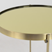Trinity Brass Metal Modern Side Table With Removable Tray Top