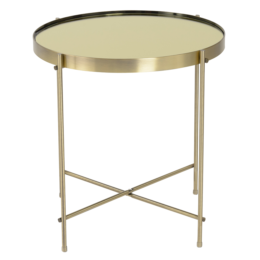 side table west maisie elm brass coffee products o tall