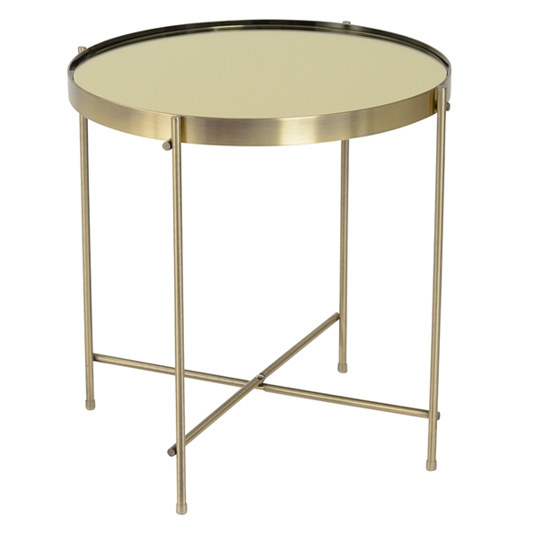Trilogy Brass Modern Side Table