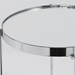 Trinity Chrome Modern Side Table
