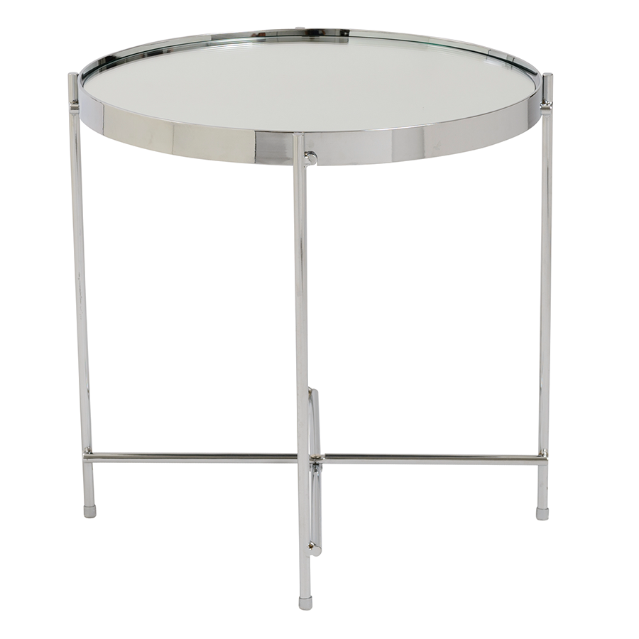 ... Trilogy Chrome Contemporary Side Table ...