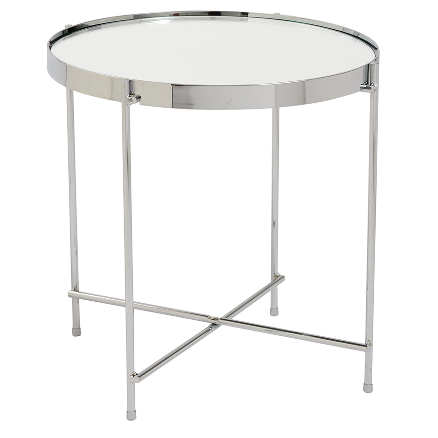 modern end tables  trinity chrome side table  eurway. trinity chrome modern side table