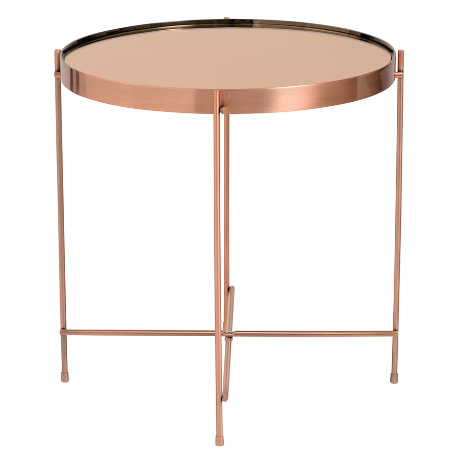 Modern Copper Coffee Table: Trilogy Copper Side Table