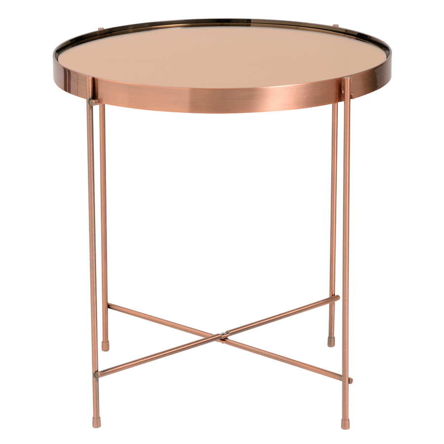 modern end tables  trinity copper side table  eurway.  trinity copper metal modern side table