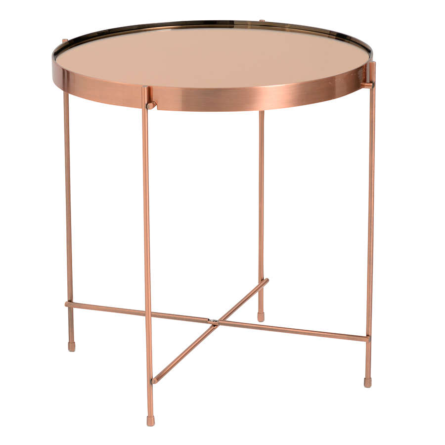 Exceptional Trinity Copper Modern Side Table