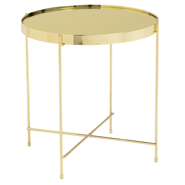 Trilogy Gold Modern Side Table