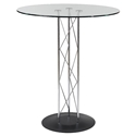 Trave Modern Classic 32 Inch Bar Table w/ Black Base