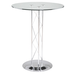 Trave Modern Classic 32 Inch Bar Table w/ Chrome Base