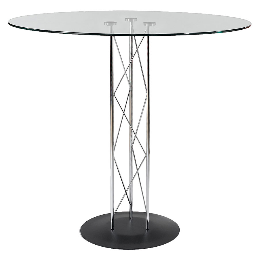 Trave Modern Classic 36 Inch Bar Table w/ Black Base