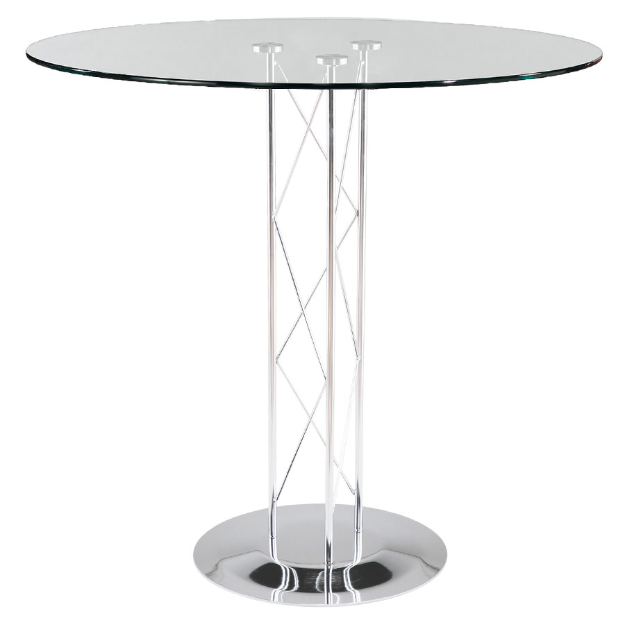 Trave Modern Classic 36 Inch Bar Table w/ Chrome Base