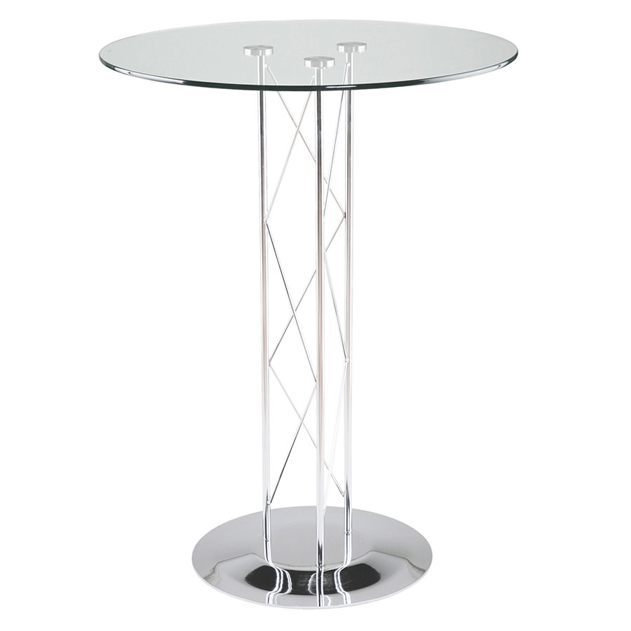 Tris Modern Classic Bar Table on Chrome