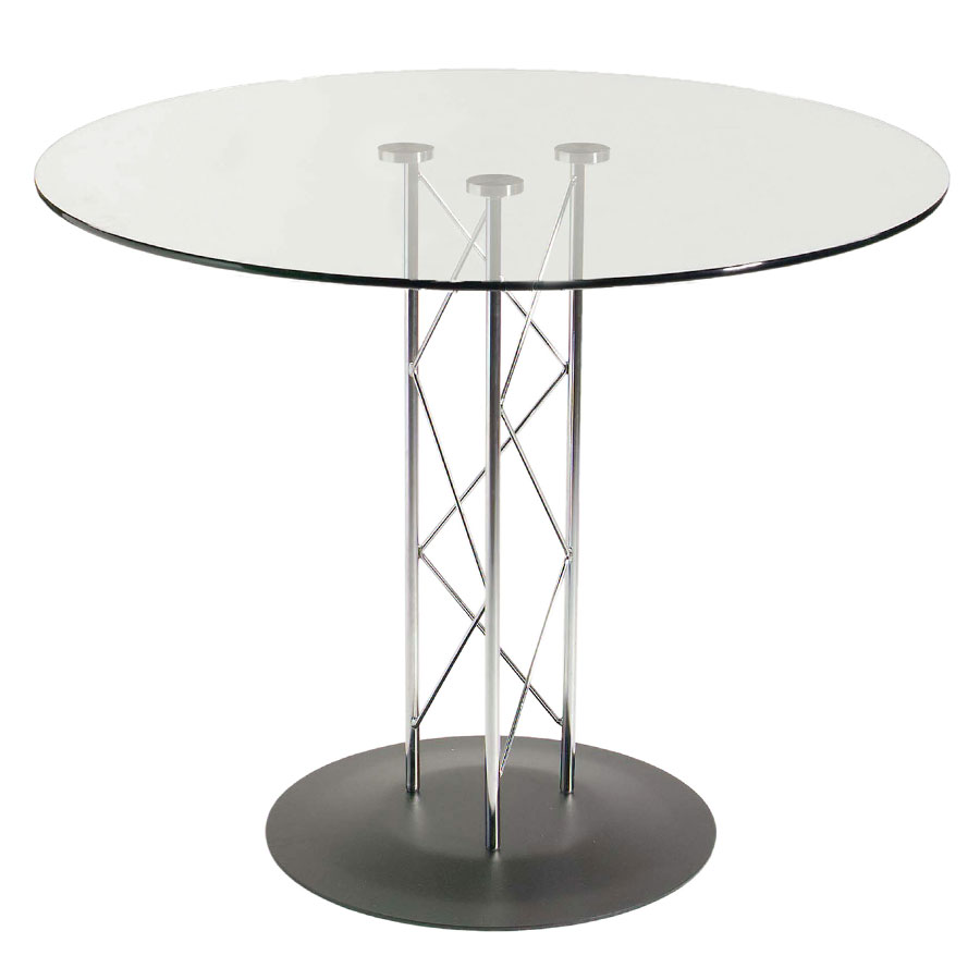 Tris Modern Classic 32 In. Dining Table w/ Black Base