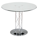 Tris Modern Classic 32 In. Dining Table w/ Chrome Base