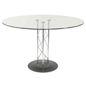 Tris Modern Classic 42 In. Dining Table w/ Black Base