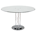 Tris Modern Classic 42 In. Dining Table w/ Chrome Base