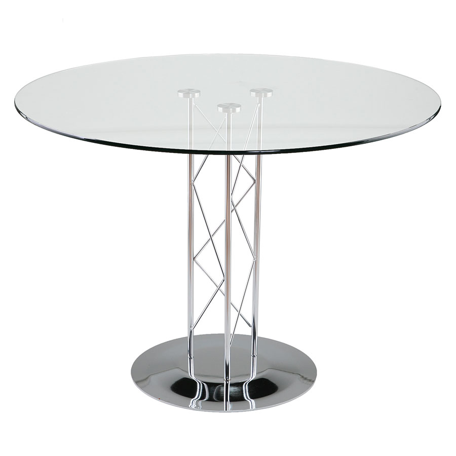 Mid-Century Modern Dining Tables - Tris Chrome Dining Table