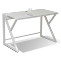Triumph Modern Glass Top Writing Desk