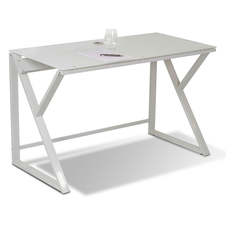 Call To Order · Triumph Modern Glass Top Writing Desk