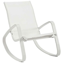 Trivio Modern White Outdoor Rocking Chair