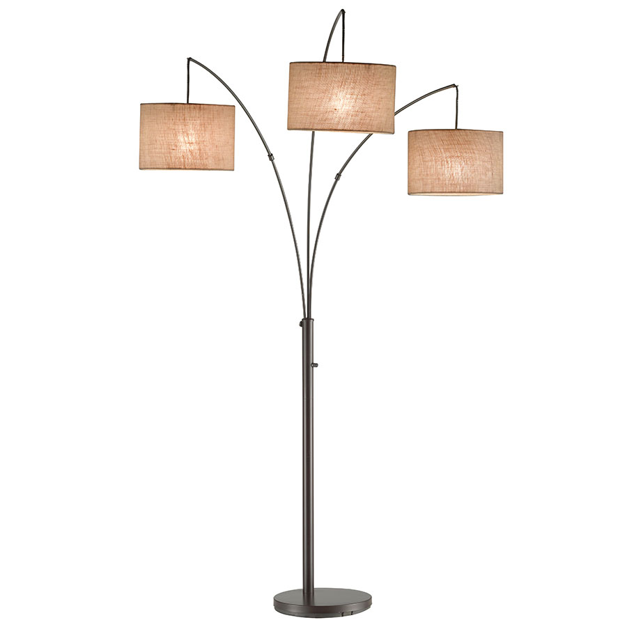 Trixie Bronze Modern Arc Lamp