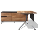 Trondheim 400 Collection Zebrano Desk + Left Credenza