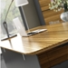 Trondheim Executive Desk + Credenza in Zebrano - Detail