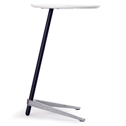 Trondheim 400 Collection Side Table in White by Unique Furniture