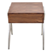 Trudy Walnut + Metal Modern End Table + Nightstand