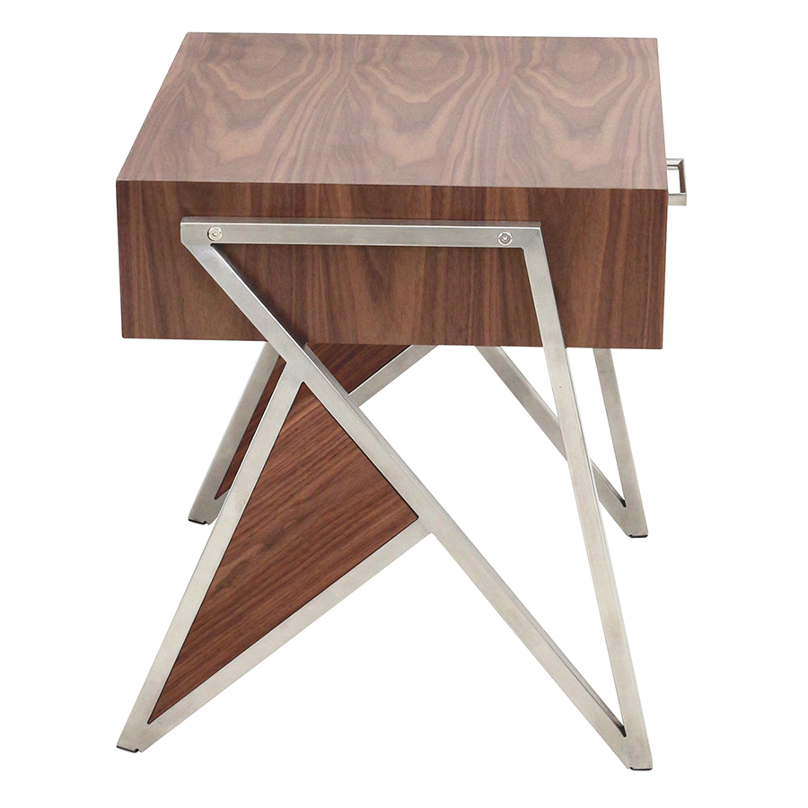 trudy modern end table  nightstand  eurway furniture -  trudy walnut modern end table  nightstand