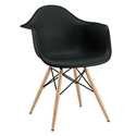 Modern Dining Chairs - Truss Black Arm Chair