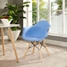 Truss Modern Classic Arm Chair in Blue