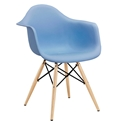 Modern Dining Chairs - Truss Blue Arm Chair