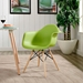 Truss Modern Classic Arm Chair in Green