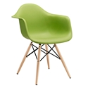 Modern Dining Chairs - Truss Green Arm Chair