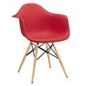 Modern Dining Chairs - Truss Red Arm Chair