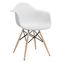 Modern Dining Chairs - Truss White Arm Chair