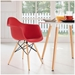 Truss Modern Arm Chair in Red