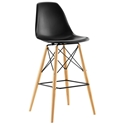Truss Black Mid-Century Modern Bar Stool
