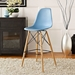Truss Blue Contemporary Bar Stool