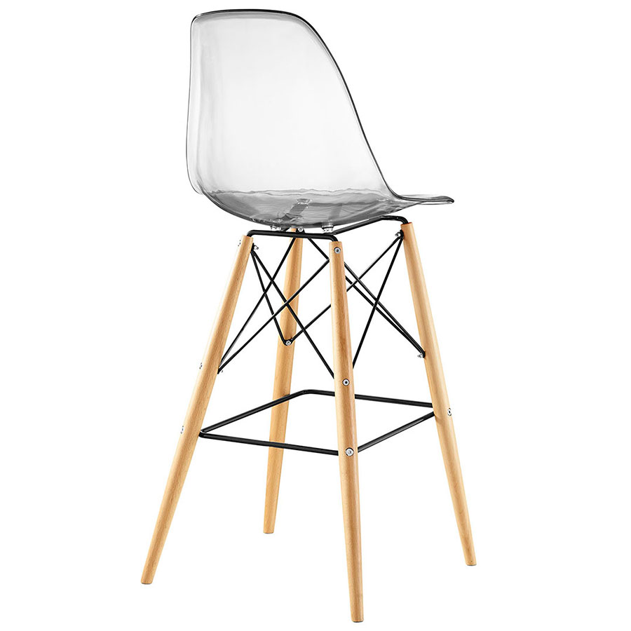 truss clear midcentury modern bar stool back view