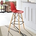 Truss Red Contemporary Bar Stool