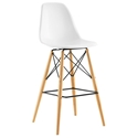 Truss White Mid-Century Modern Bar Stool