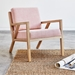 Gus* Modern Truss Arm Chair in Caledon Dahlia Fabric Upholstery with Ash Frame - Room Shot
