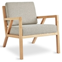 Gus* Modern Truss Arm Chair in Leaside Driftwood Fabric Upholstery With Natural Ash Wood Frame