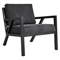 Gus* Modern Truss Arm Chair in Vintage Mineral Fabric Upholstery with Black Ash Frame
