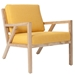 Truss Contemporary Lounge Chair in Laurentian Citrine