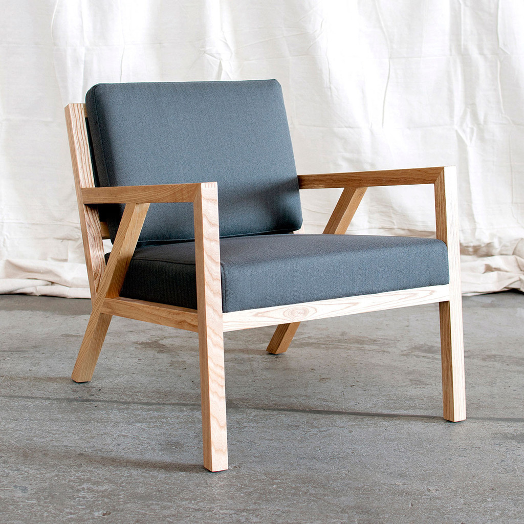 ... Truss Contemporary Lounge Chair In Menswear Griffin By Gus Modern ...