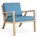 Truss Contemporary Lounge Chair in Muskoka Surf