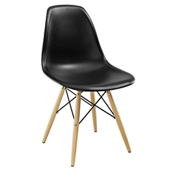 Modern Dining Chairs - Truss Black Side Chair