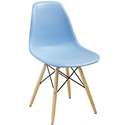 Modern Dining Chairs - Truss Light Blue Side Chair